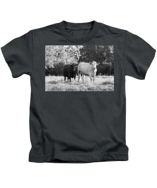 Black And White Cows Kids T-Shirt