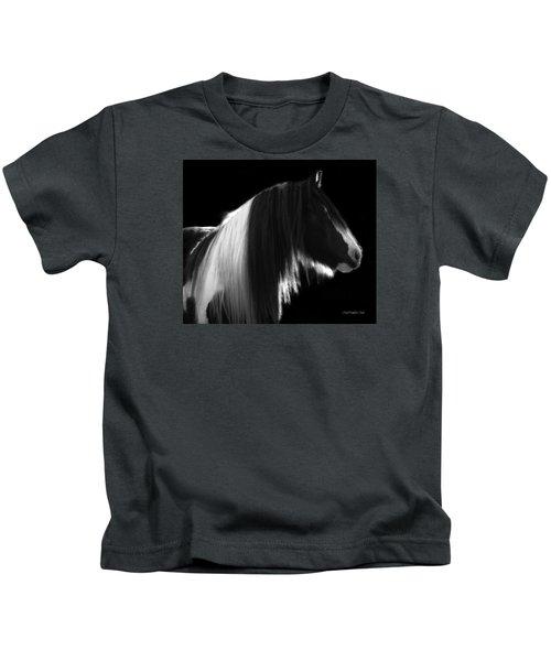 Black And White Mare Kids T-Shirt