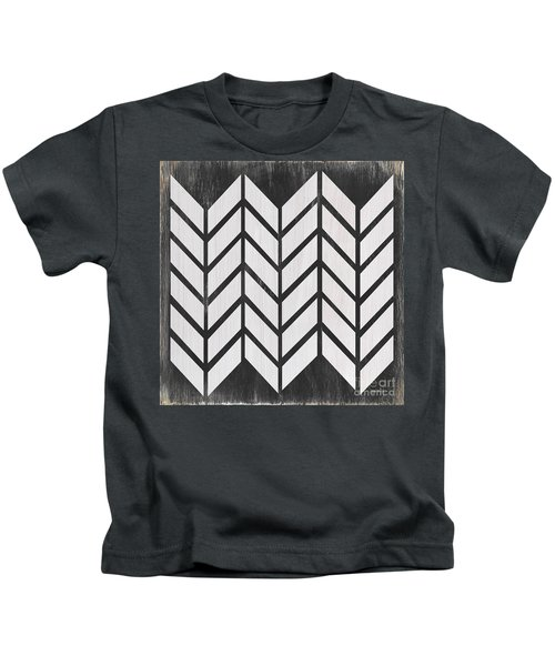 Black And White Quilt Kids T-Shirt