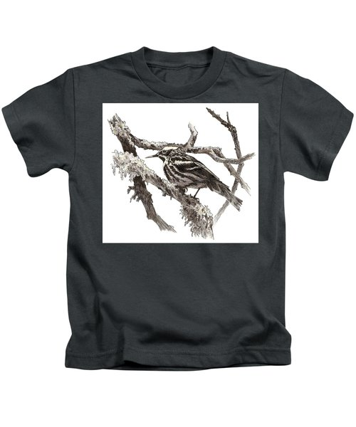 Black-and-white Warbler Kids T-Shirt