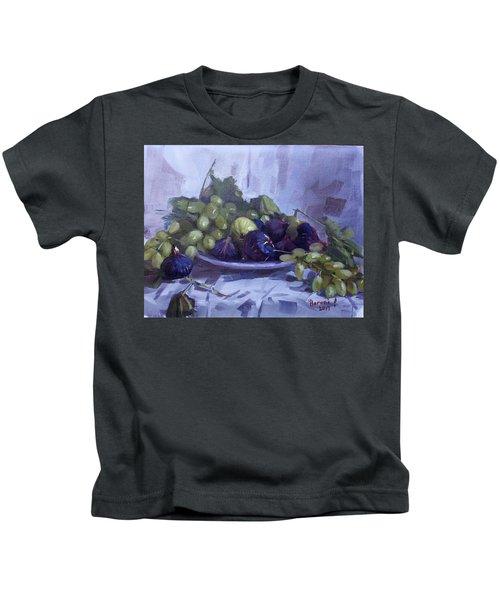Black Figs And Grape Kids T-Shirt