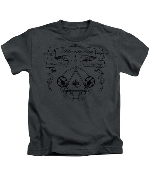 Black Rose Adventuring Co. Kids T-Shirt by Nyghtcore Studio