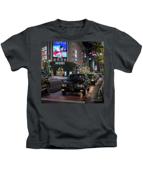 Black Taxi In Tokyo, Japan Kids T-Shirt