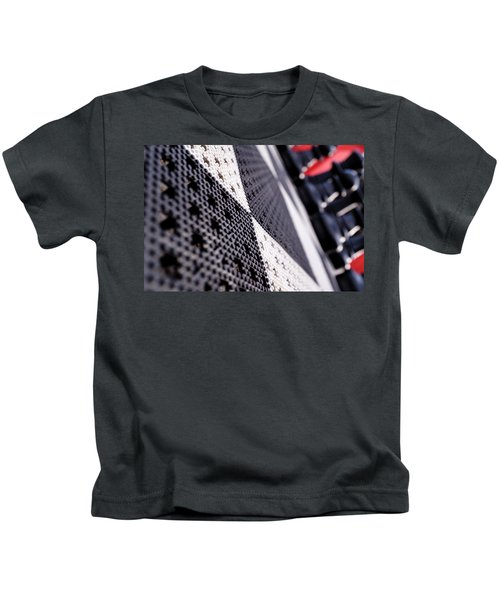 Black White And Red Chess Board Outside In Grand Rapids Michigan Kids T-Shirt