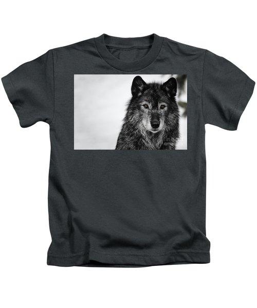 Black Wolf I Kids T-Shirt