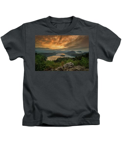 Bled On Fire Kids T-Shirt