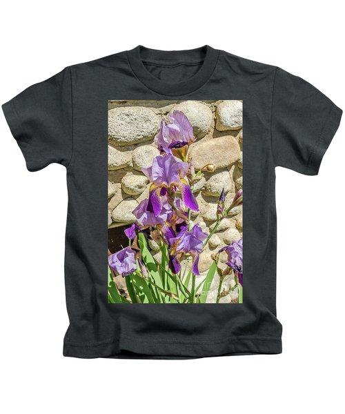 Blooming Purple Iris Kids T-Shirt