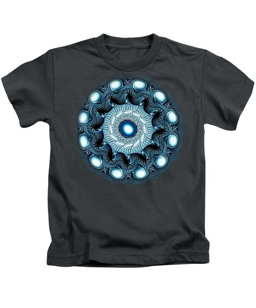 Blue Circle Kids T-Shirt by Anastasiya Malakhova