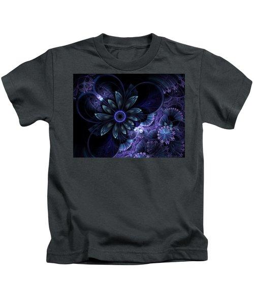 Blue Fleur And Lace Kids T-Shirt