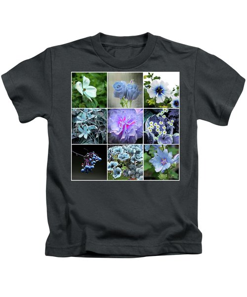 Blue Flowers All Kids T-Shirt