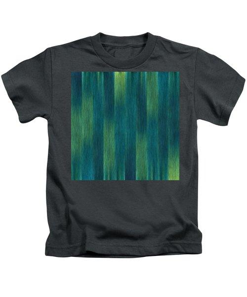 Blue Green Abstract 1 Kids T-Shirt