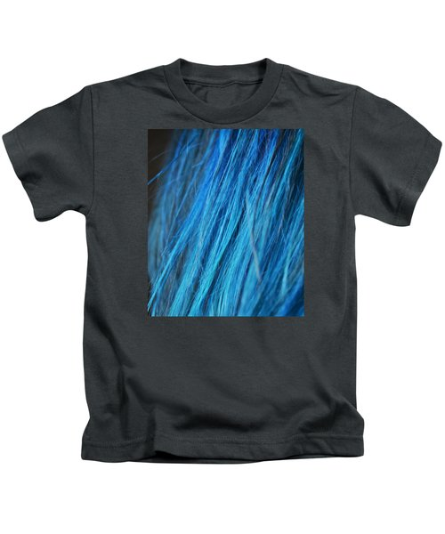 Blue Hair Kids T-Shirt