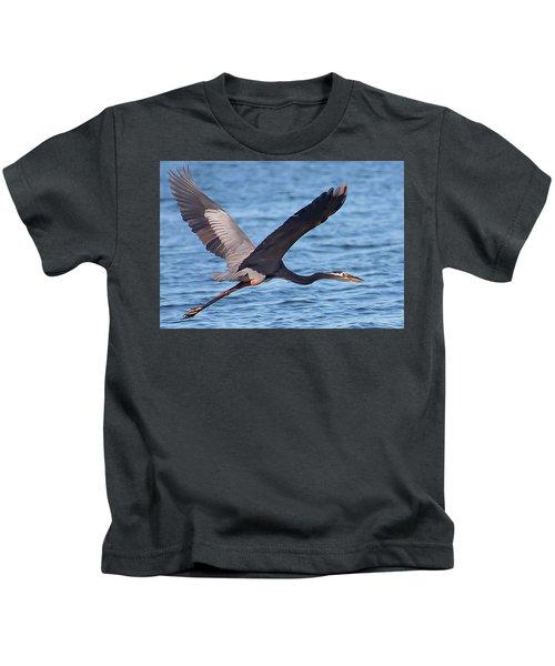 Blue Heron Wingspan Kids T-Shirt