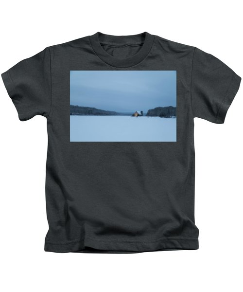 Blue Hour At The Old Stone Church Kids T-Shirt