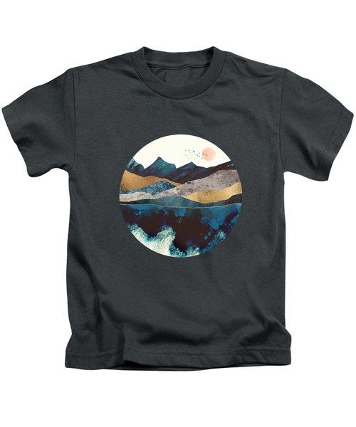 Blue Mountain Reflection Kids T-Shirt
