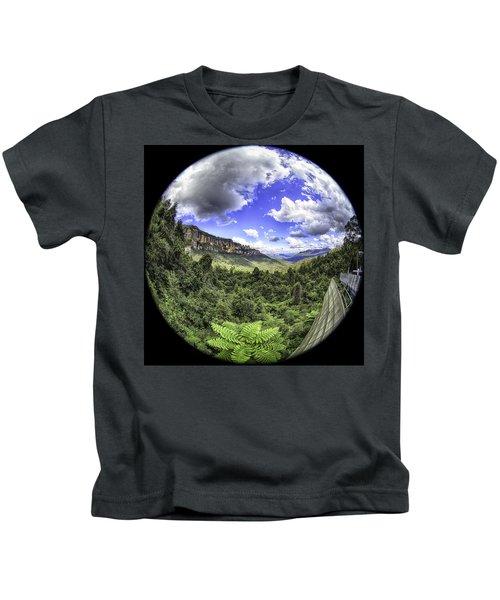 Blue Mountains Fisheye Kids T-Shirt