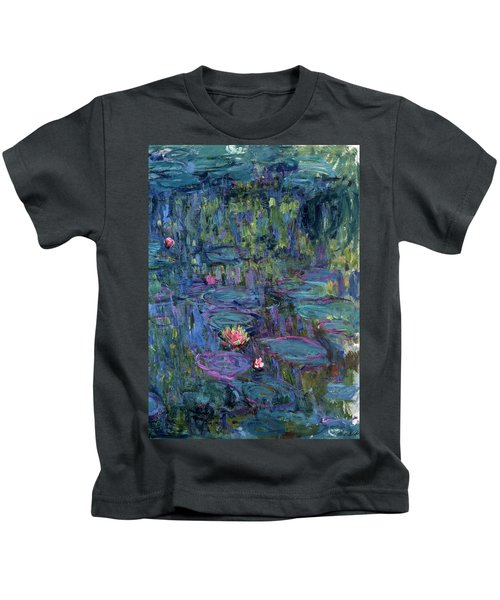 Blue Nympheas Kids T-Shirt