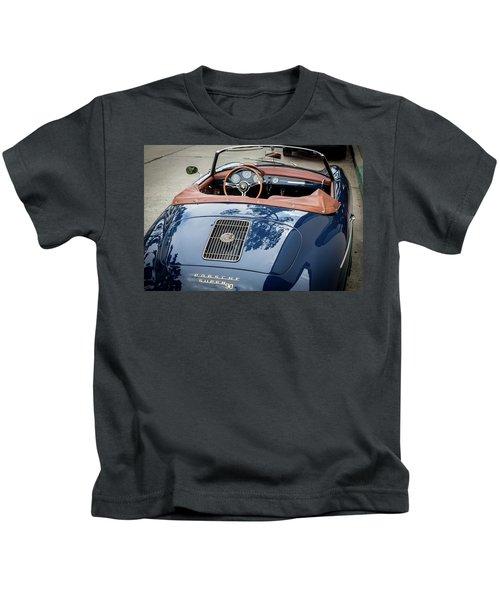 Blue Porche 356 Kids T-Shirt