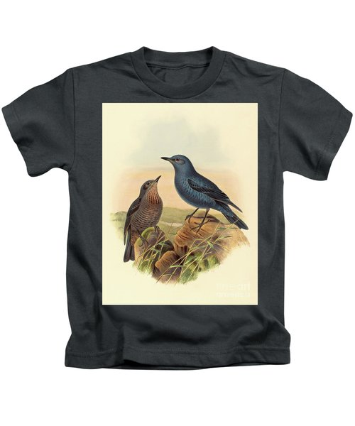 Blue Rockthrush Kids T-Shirt