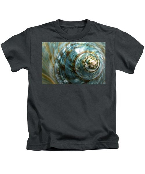 Blue Seashell Kids T-Shirt
