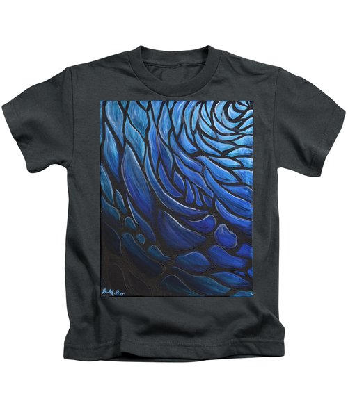 Blue Stained Glass Kids T-Shirt