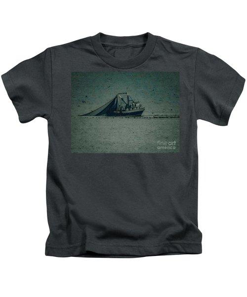 Blue Trawler 3 Kids T-Shirt