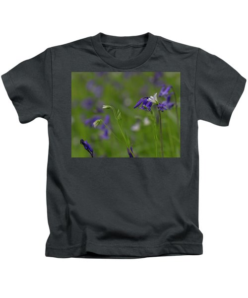 Bluebells And Stitchwort  Kids T-Shirt