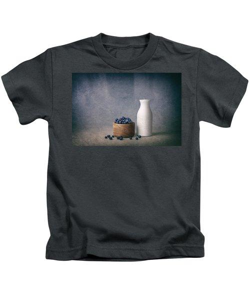 Blueberries And Cream Kids T-Shirt by Tom Mc Nemar