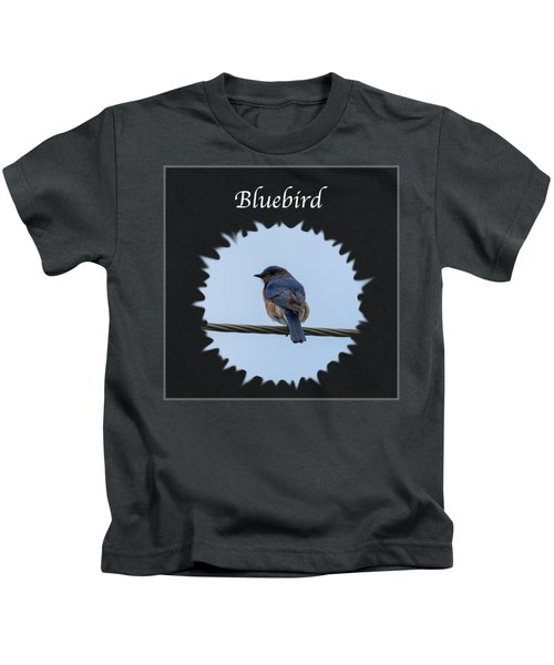Bluebird Kids T-Shirt by Jan M Holden