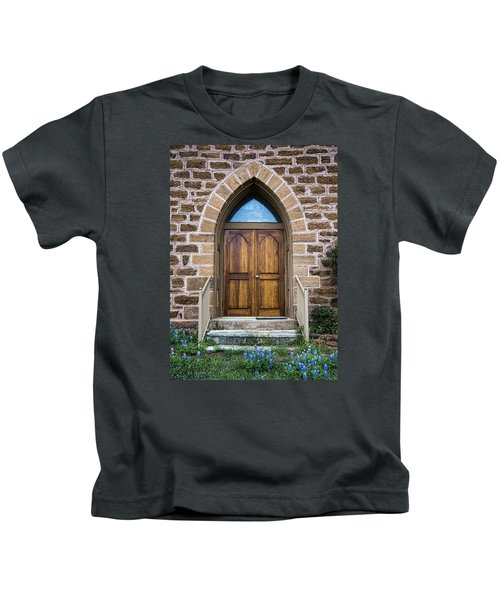 Bluebonnet Door Kids T-Shirt