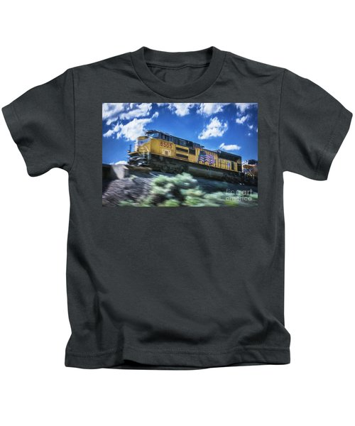 Blurred Rails Kids T-Shirt