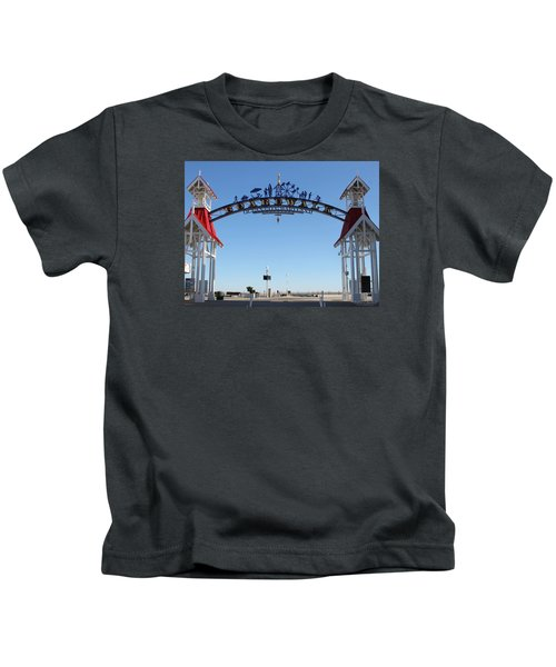 Boardwalk Arch At N Division St Kids T-Shirt