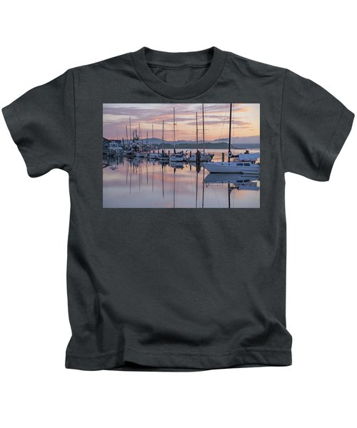 Boats In Pastel Kids T-Shirt