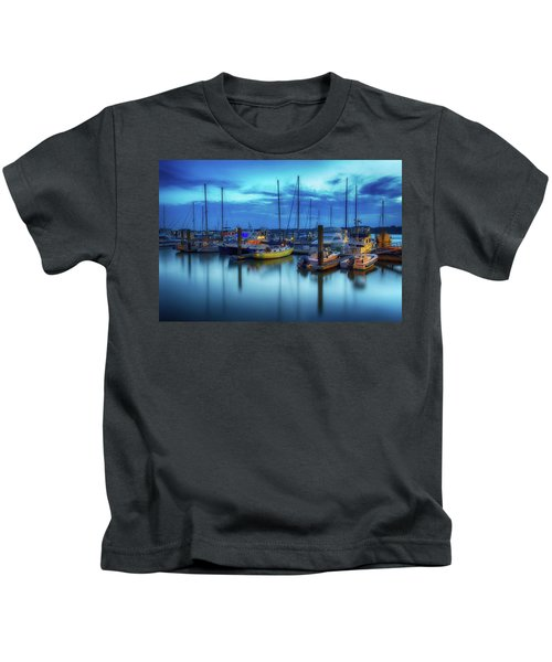 Boats In The Bay Kids T-Shirt