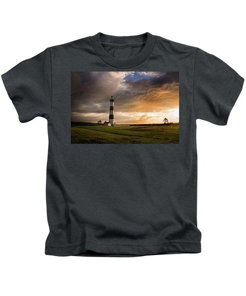 Bodie Lighthous Landscape Kids T-Shirt