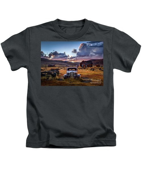 Bodie's 1937 Chevy At Sunset Kids T-Shirt