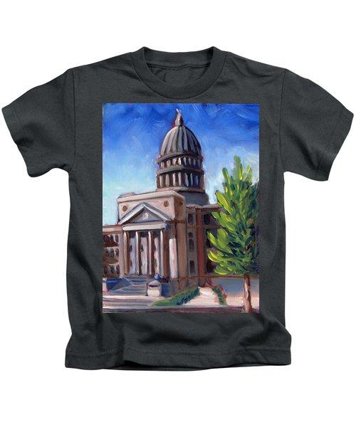 Boise Capitol Building 01 Kids T-Shirt