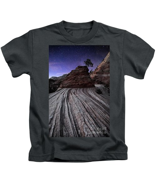 Bonzai In The Night Utah Adventure Landscape Photography By Kaylyn Franks Kids T-Shirt