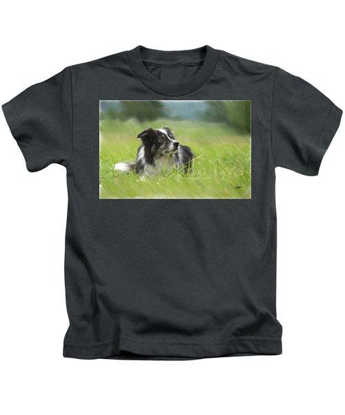Border Collie - Dwp2189332 Kids T-Shirt