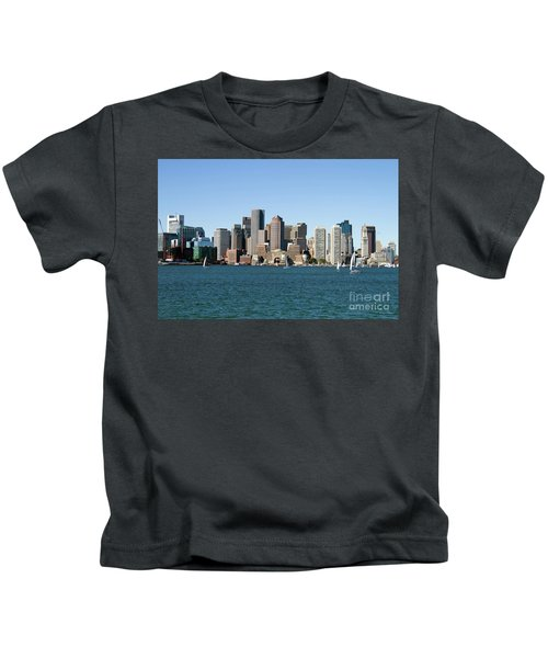 Boston City Skyline Kids T-Shirt