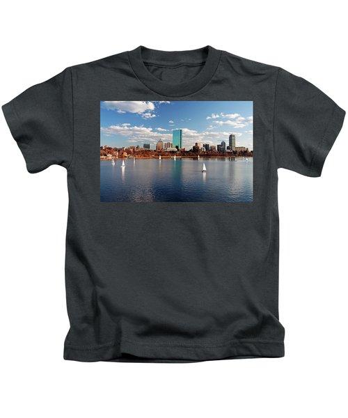 Boston On The Charles  Kids T-Shirt