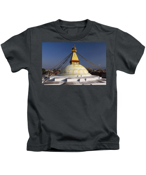 Boudhanath Stupa Kids T-Shirt