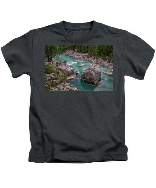 Boulder In The River - Slovenia Kids T-Shirt