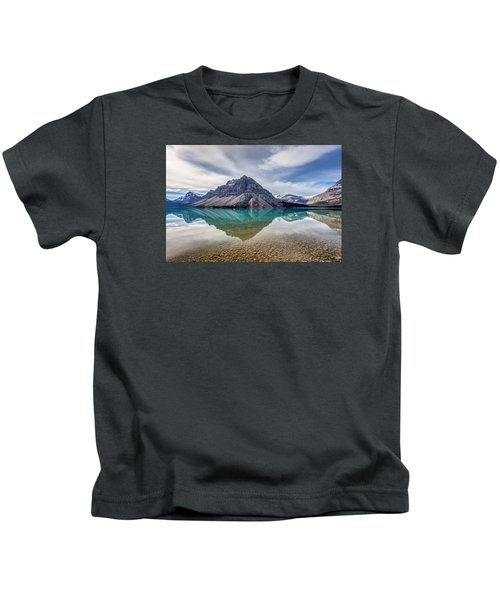 Bow Lake Reflection From Num-ti-jah Lodge  Kids T-Shirt