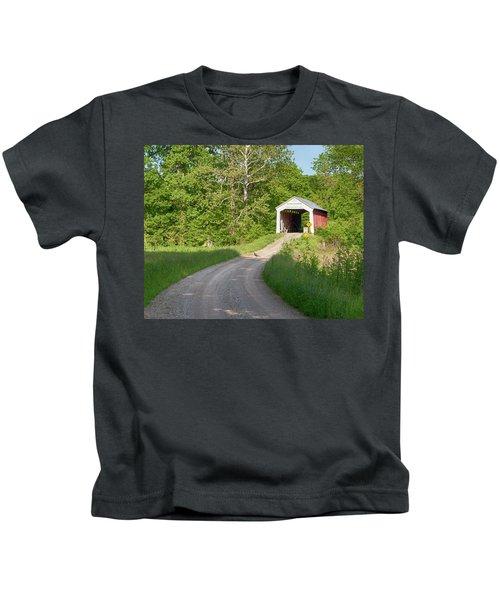 Bowser Ford Covered Bridge Lane Kids T-Shirt