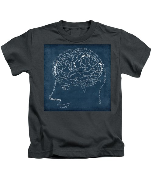 Brain Drawing On Chalkboard Kids T-Shirt