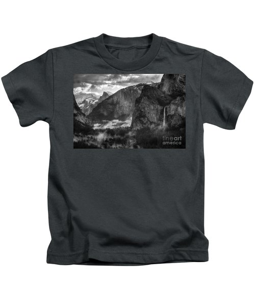Bridalvail Falls And Half Dome Kids T-Shirt