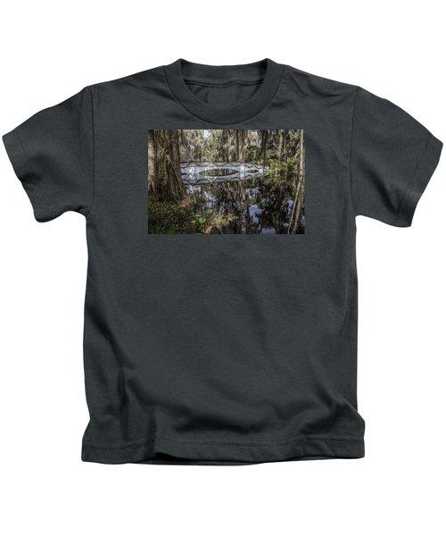 Bridge At Magnolia Plantation Kids T-Shirt