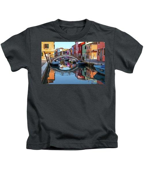 Bridge In Burano  Kids T-Shirt