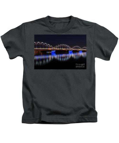 Bridge In Riga  Kids T-Shirt